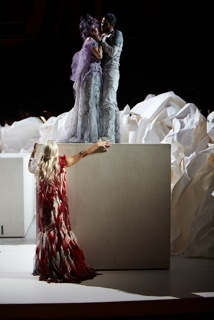 Carmela Remigio (Donna Anna) and Anna Prohaska (Zerlina) and Ryan Kuster (Masetto)_Autumn de Wilde
